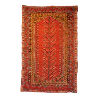 Early 20th Century Antique Turkish Tree of Life Rug - 3′6″ × 5′8″ For Sale
