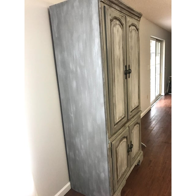 Distressed Shabby Chic Armoire - Image 6 of 11