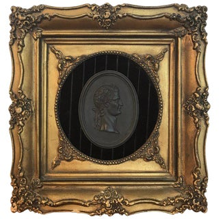 18th Century Wedgwood Black Basalt Roman Emperor Plaque For Sale