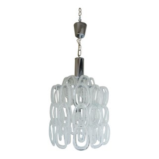 1970s Murano Interlocking Hand Blown Murano Glass Chandelier For Sale