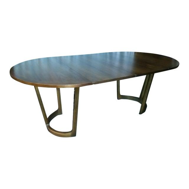 Danish Modern Lane Rhythm Round Dining Table Leaf Pads For Sale - Image 3 of 11