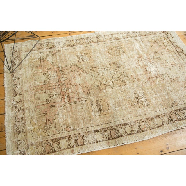 "Vintage Distressed Oushak Rug - 4' x 5'11"" - Image 3 of 10"