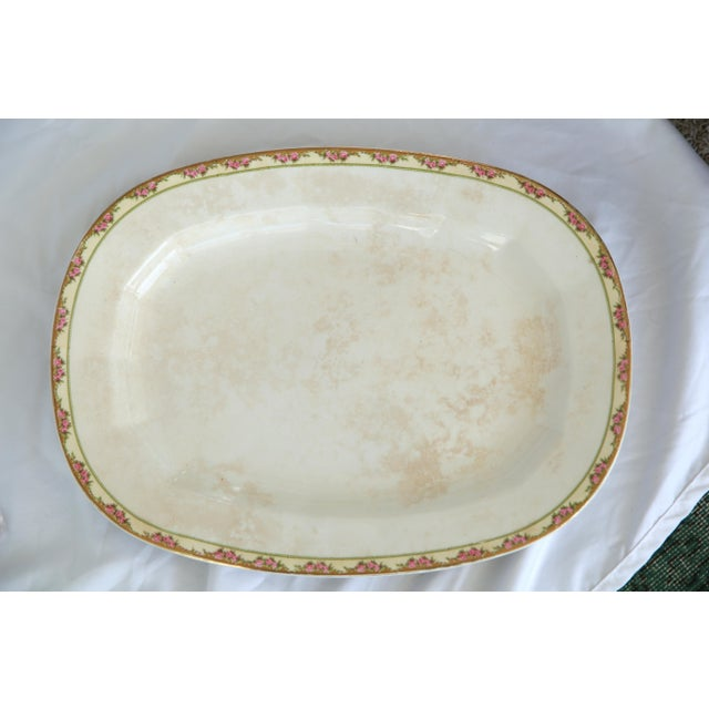 1930s Large Vintage Shabby Chic Platter For Sale - Image 5 of 5