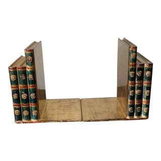 Traditional Italian Faux Book Bookends - a Pair For Sale