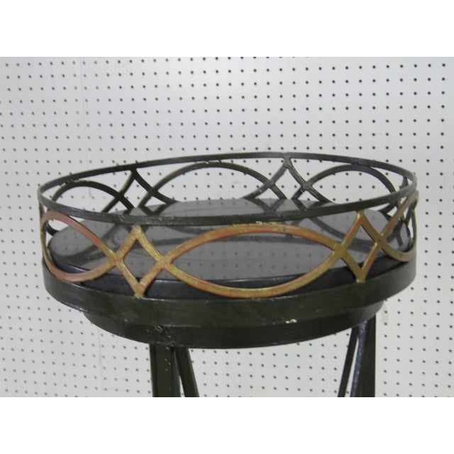 Hollywood Regency Pair of Hollywood Regency Style Plant Stands For Sale - Image 3 of 7