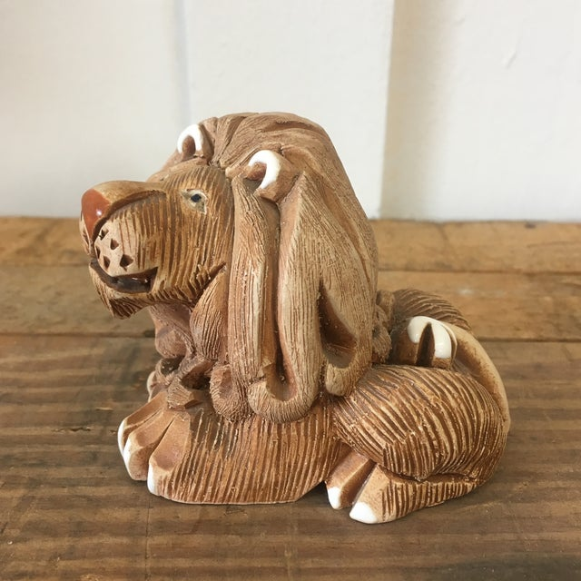Mid-Century Clay Lion Sculpture - Image 4 of 10