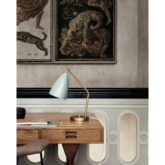 *NOTE: 4-5 WEEK LEAD TIME* Greta Magnusson Grossman 'Grasshopper' table lamp in light grey. Designed in 1947 by Grossman,...