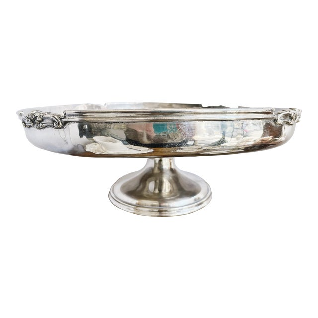 Antique Silver Plated Dessert Stand From the Willard Hotel in Washington DC For Sale