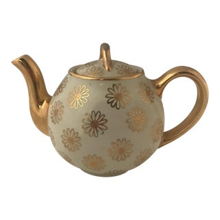1960s Vintage Hall French Daisy Cup Teapot For Sale
