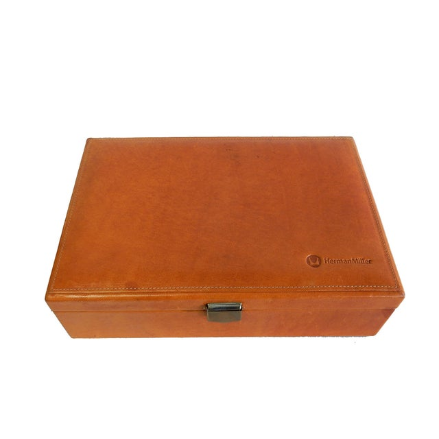 Rare Herman Miller Leather Case Poker Game/Domino - Image 2 of 9