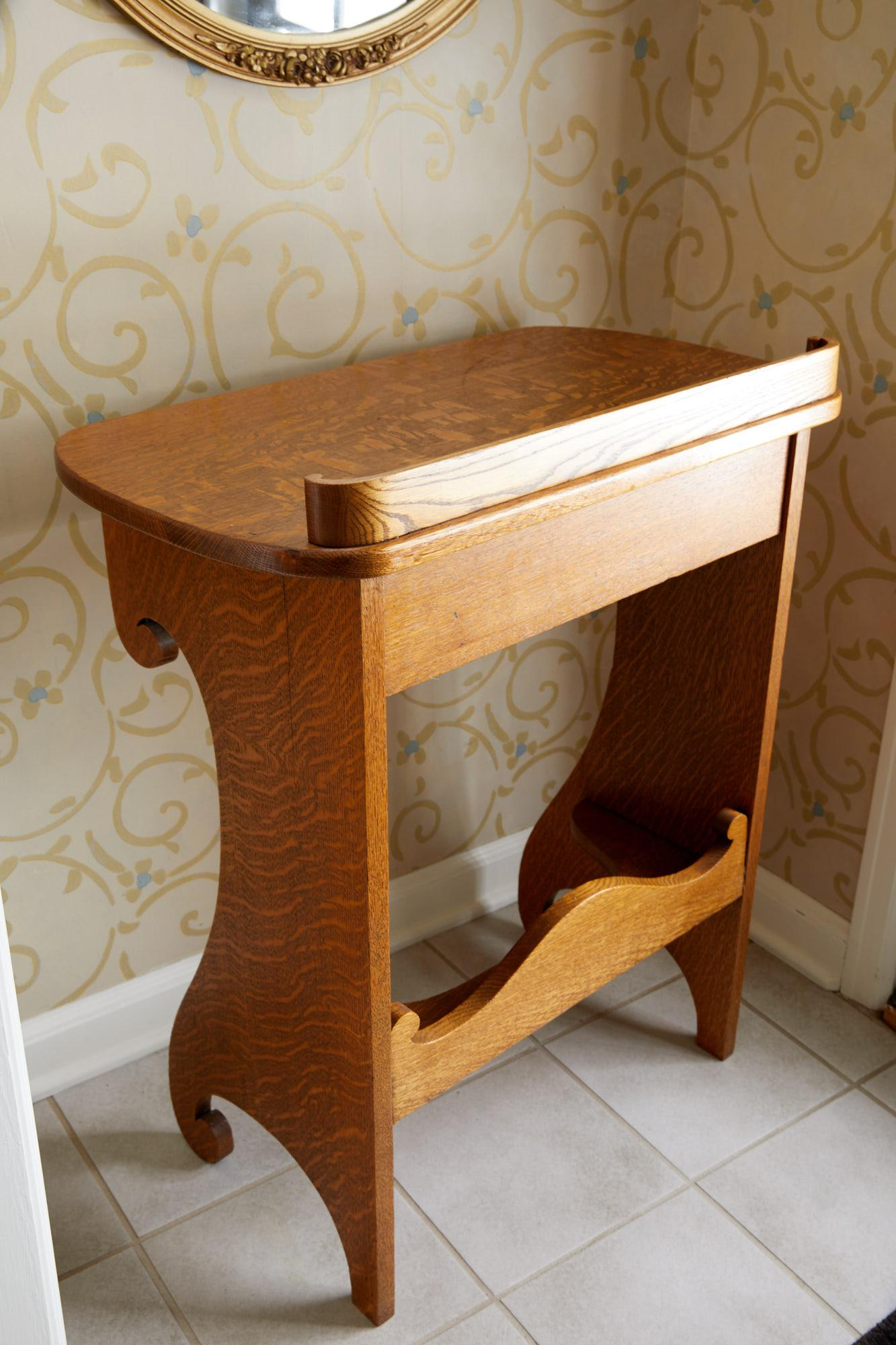 Vintage Oak Writing Desk Chairish