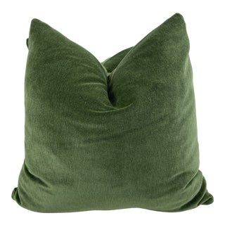 """Holly Hunt Great Outdoors """"New Fortune """" in Clover 22"""" Pillows-A Pair For Sale"""