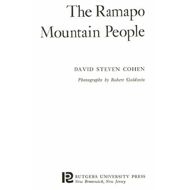 The Ramapo Mountain People by David Steven Cohen. Illustrated by Robert Goldstein. New Brunswick: Rutgers University...