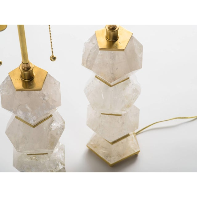 """Not Yet Made - Made To Order Classic Rock Crystal Quartz Lamps - """"Eon Collection"""" For Sale - Image 5 of 10"""