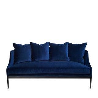 Indigo Velvet Sofa