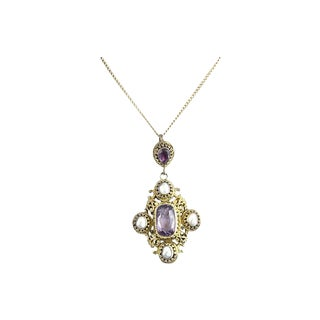 19th Century Victorian Austro-Hungarian Amethyst Necklace For Sale