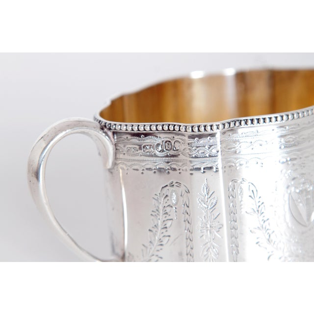 19th Century English Sterling Silver 4 Piece Coffee and Tea Service For Sale - Image 10 of 12