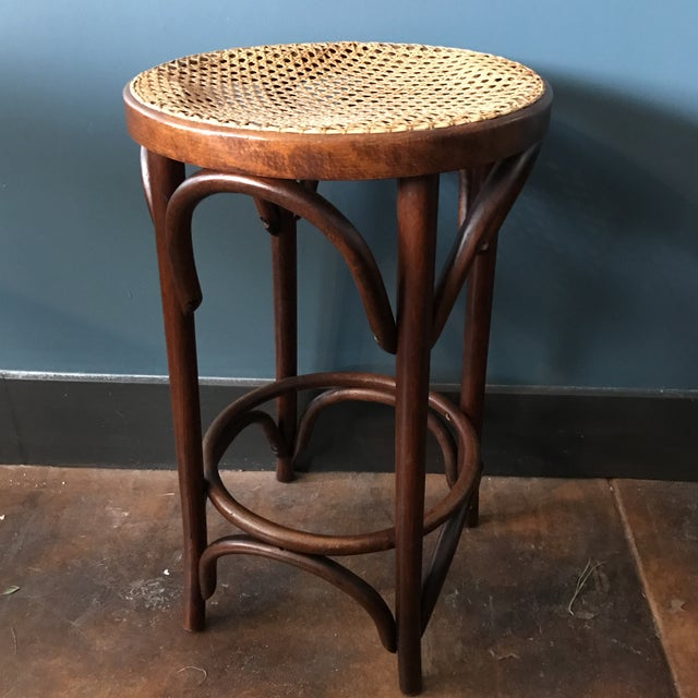 Bentwood Caned Counter Stool - Image 2 of 5