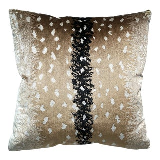 Scalamandre Antelope Pillow, Natural For Sale
