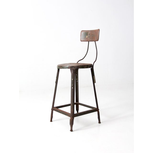 Vintage Industrial Drafting Stool For Sale - Image 9 of 10