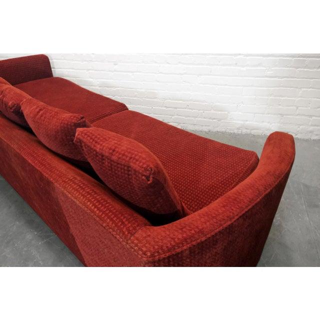 Custom Mid-Century Sofa in Rust Colored Chenille - Image 5 of 5