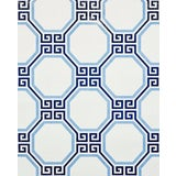 Image of Sample - Schumacher Octavia Paperweave Wallpaper in Marine For Sale