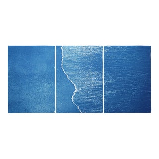 Tropical Coastal Triptych of Calm Costa Rica Shore - 3 Pieces For Sale