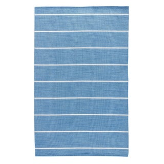 Jaipur Living Cape Cod Handmade Stripe Blue & Cream Area Rug - 9' X 12' For Sale