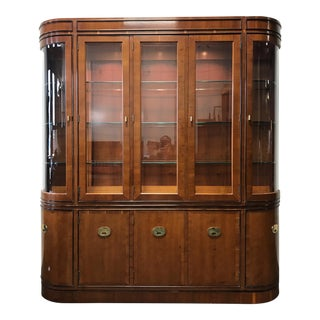 HICKORY MANUFACTURING 'Raffles' Yew Wood China Display Cabinet