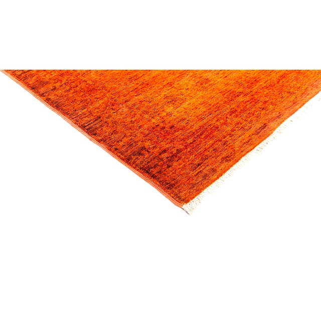 "New Hand-Knotted Overdyed Orange Rug - 8'3"" X 9'10"" - Image 2 of 3"