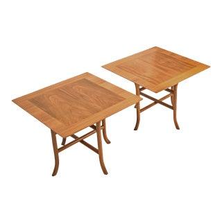 Klismos Sabre Leg End Tables by Terence Harold Robsjohn-Gibbings for Widdicomb, Pair, 1950s For Sale