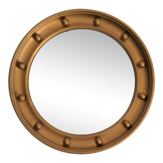 English Convex Round Bullseye Mirror For Sale