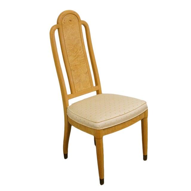 Henredon Scene Two Burled Olive Splat Back Dining / Side Chair For Sale