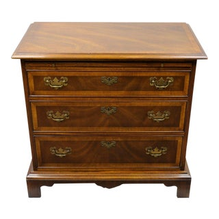 Vintage Banded Mahogany Chippendale Chest For Sale