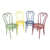 Image of Vintage Wood Candy Cane Radomsko Cafe Chairs - Set of 4 For Sale