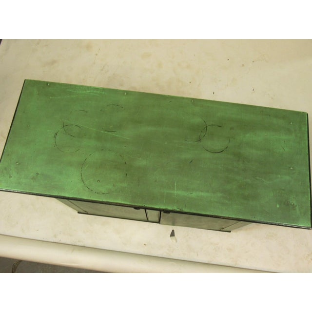 19th C. American Green Painted Cupboard For Sale - Image 4 of 12