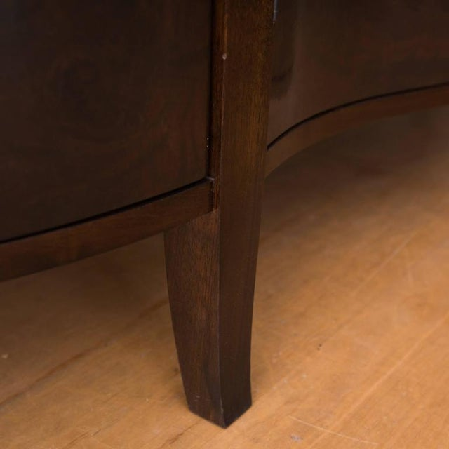 Serpentine Front Buffet in Burled Walnut by Gregory Clark For Sale In New York - Image 6 of 7