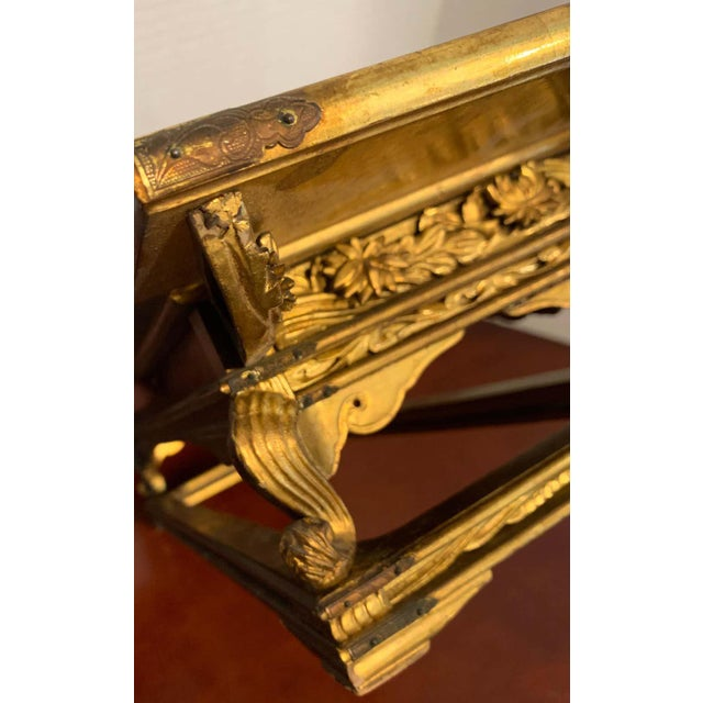 Exquisite Meiji Period Gilt Lacquered and Brass Mounted Stand For Sale In Atlanta - Image 6 of 12