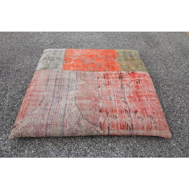 Vintage Turkish Patchwork Floor Pillow - Image 2 of 5
