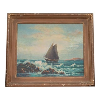 1942 Framed Sailboat Painting