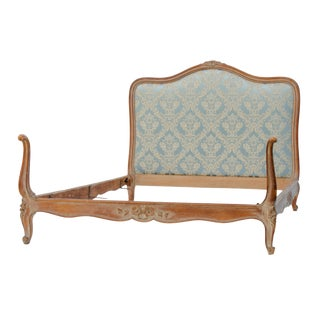 Early 20th Century Antique Louis XV Style Upholstered Bed For Sale