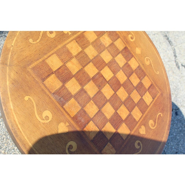 Americana Inlaid Game Table For Sale - Image 3 of 7