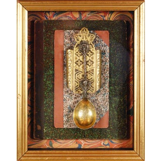 Vintage Medieval Spoon in Shadowbox