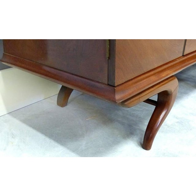 Brown Monumental and Important Sculptural Credenza Giusseppe Scapinelli, circa 1960 For Sale - Image 8 of 10