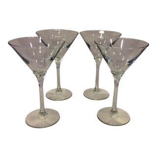 Crystal Hexagon Stem Martini Glasses - Set of 4