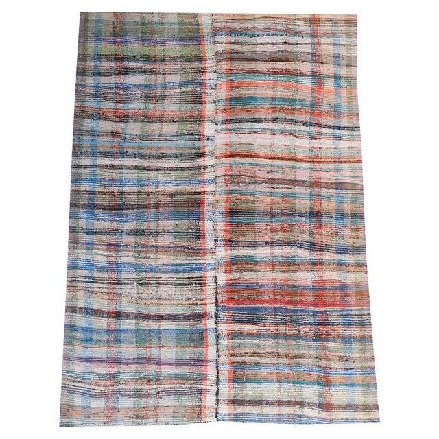 Vintage Turkish Hand-Made Flatweave Kilim Rug - 7′3″ × 10′5″ - Image 1 of 5