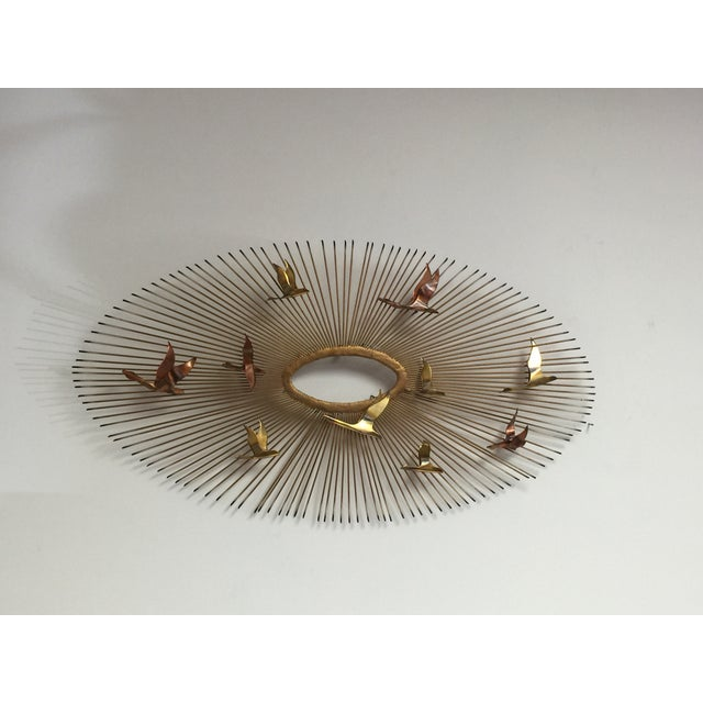 Curtis Jere Style Wall Hanging Sunburst Sculpture - Image 5 of 5