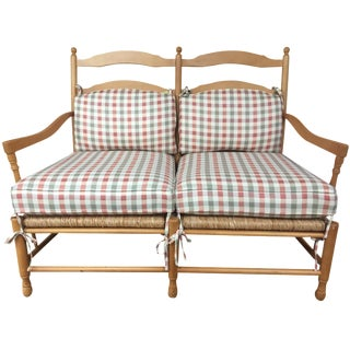 Sam Moore Gingham Settee For Sale