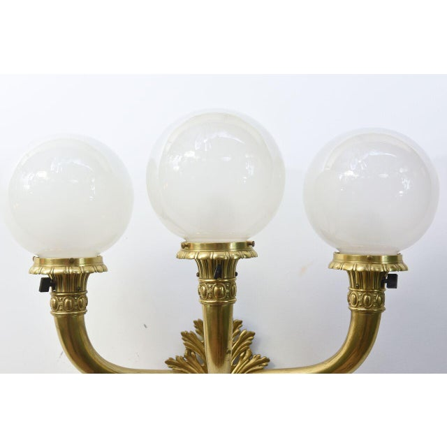 Cast Brass Early Electric Sconce For Sale In Boston - Image 6 of 11