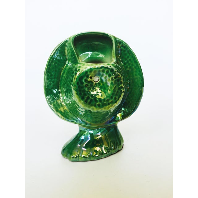 Vintage Green Lady Head Vase - Image 6 of 6